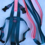 Titan Easy On/Off No Pull Harness Set - Teal-Salmon